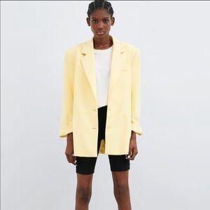 Yellow Zara Blazer